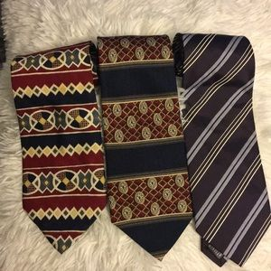 3 Designer men's ties Hugo Boss Perry Ellis